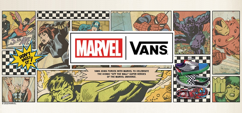 KIDS Vans X Marvel