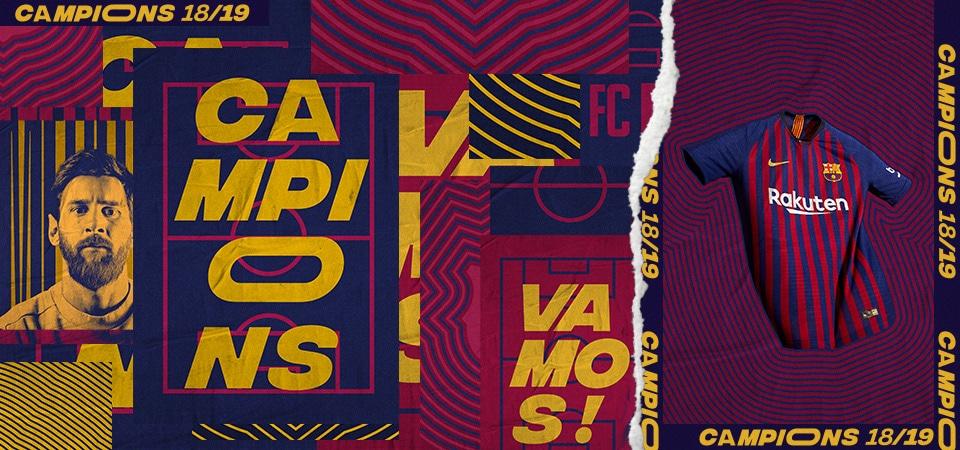 Barca Win League 18/19